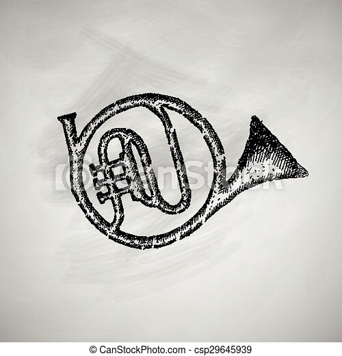 french horn icon - csp29645939