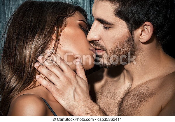 French kiss close up portrait of a passionate young people stock french kiss csp35362411 ccuart Choice Image