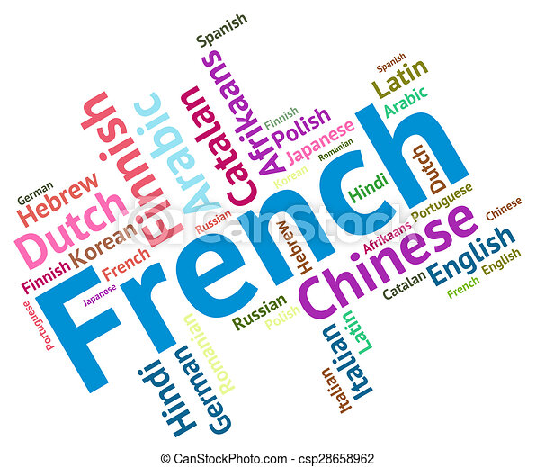 french language indicates lingo translate and dialect french rh canstockphoto com french language clipart German Language Clip Art