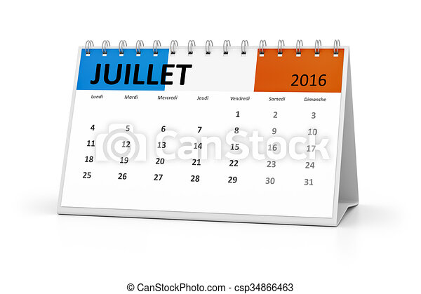 french language table calendar 2016 july a french language table