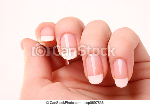 French manicure 03 - csp0697836