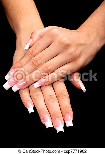 French manicure - csp7771902