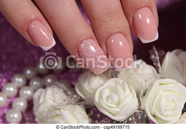 French Manicure Wedding Design French Manicure Nails Wedding Design