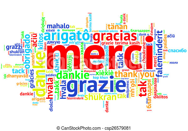 french merci open word cloud thanks on white focus on french rh canstockphoto com French Words Clip Art french flag images clip art
