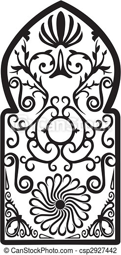 Illustration Of French Pattern Vector Illustration