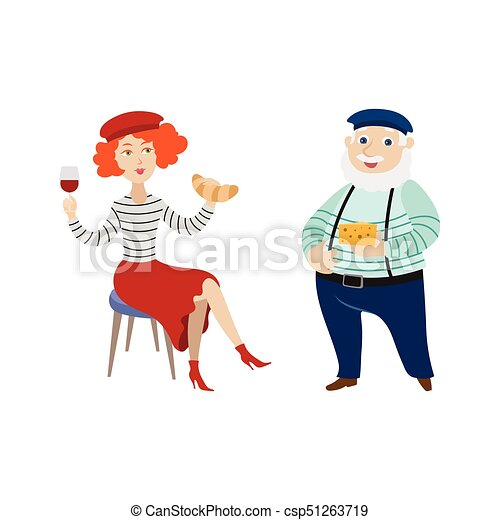 french people eating cheese and drinking wine french vector clip rh canstockphoto ie French Flag Clip Art S French People