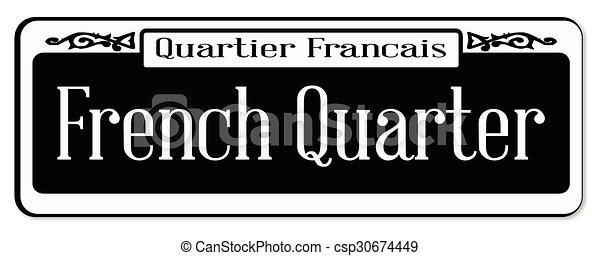 French Quarter New Orleons Street Sign Of Quartier Francais Over A