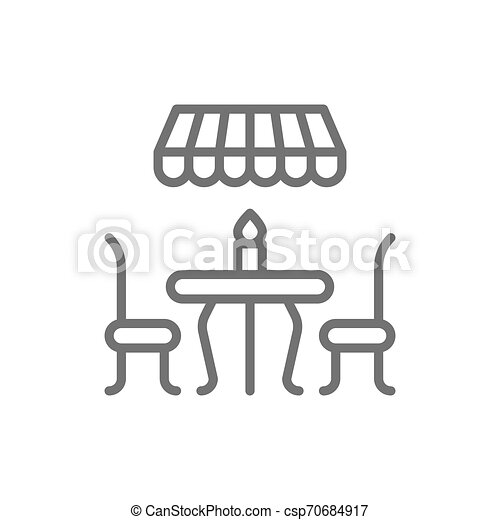 French street cafe line icon. - csp70684917