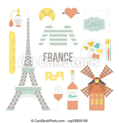 French Symbols - csp35805106