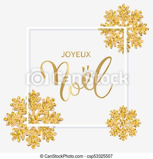 Joyeux Noel Clipart.French Text Joyeux Noel With Hand Lettering Christmas Backgroun