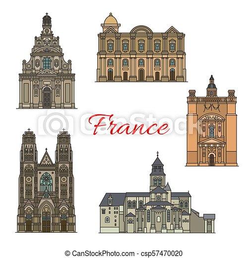 French travel landmark icon for religious tourism - csp57470020