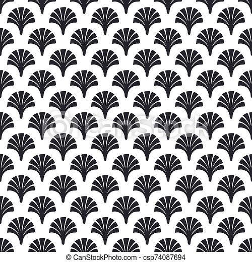 French Victorian Seamless Pattern Vector Whiteblack