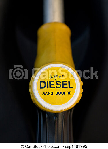 French yellow super diesel  pump  - csp1481995