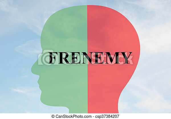 Frenemy personality concept - csp37384207