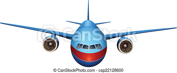 Clip art vectorial de frente avin vista  Illustration de un