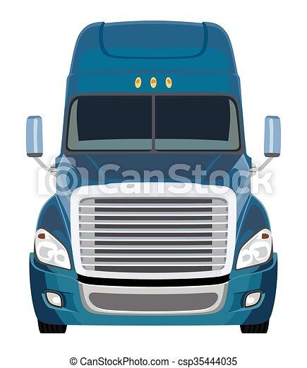 frente, azul, caminhão - csp35444035