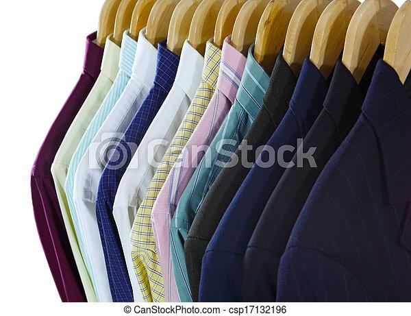 frente, camisas, ternos - csp17132196
