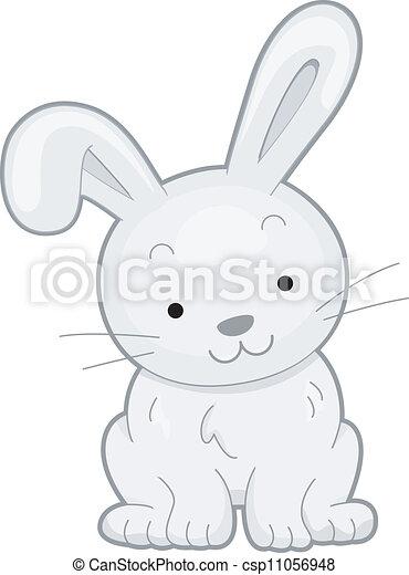 frente, coelho, vista - csp11056948