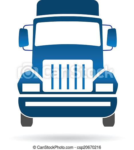 frente, logotipo, imagem, caminhão - csp20670216