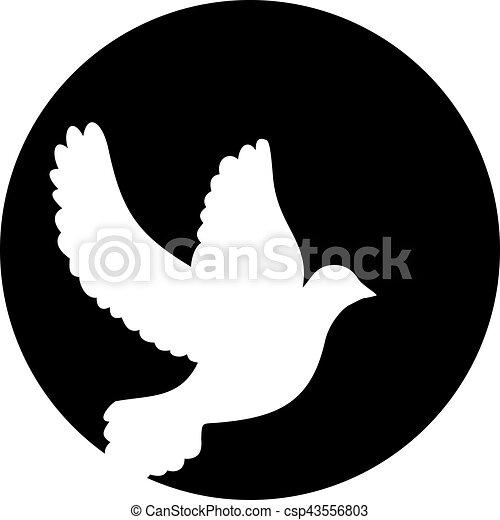 Dove frente a la luna - csp43556803