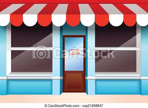 frente, vazio, loja - csp21658847