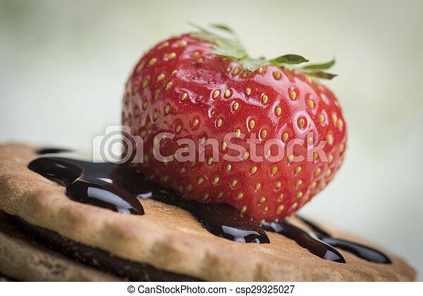 Fresa y galletas - csp29325027