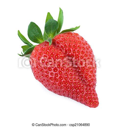 Primer plano de fresa - csp21064890