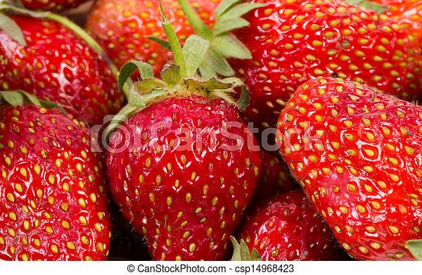 La textura de las fresas - csp14968423
