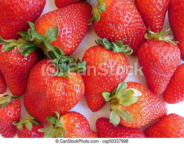 Textura de fresas - csp50337998