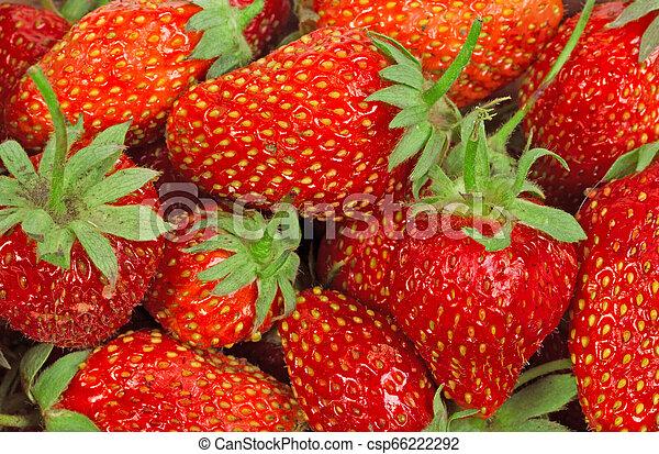La textura de las fresas - csp66222292