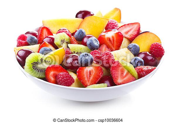 Ensalada con frutas frescas y bayas - csp10036604