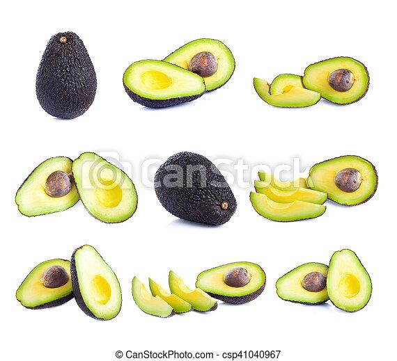 fresco, bianco, avocado, isolato - csp41040967