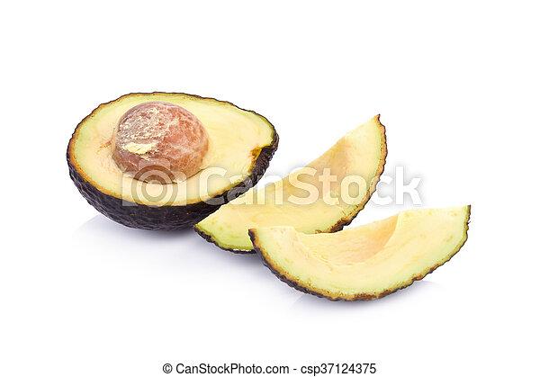 fresco, bianco, avocado, isolato - csp37124375