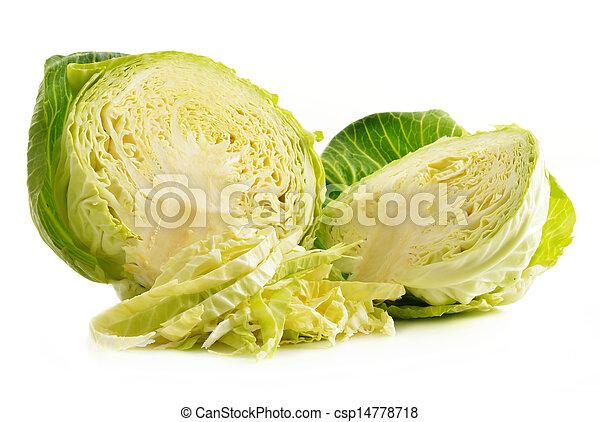 fresco, col, blanco, orgánico, aislado - csp14778718