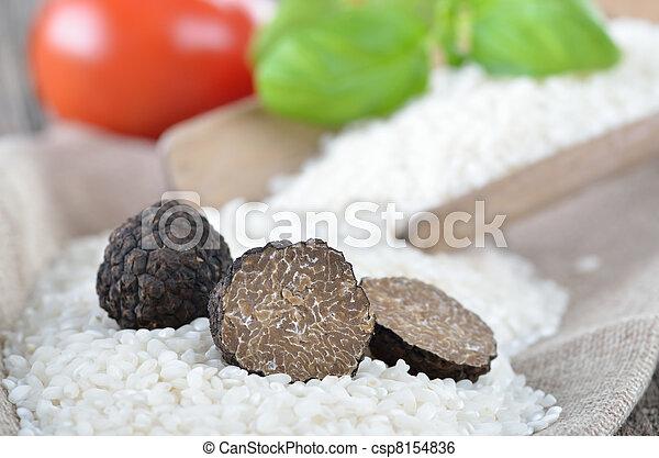 Trufas negras frescas - csp8154836