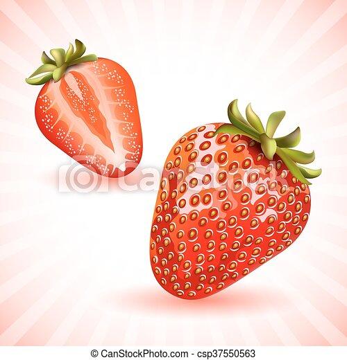 Fresas frescas. - csp37550563
