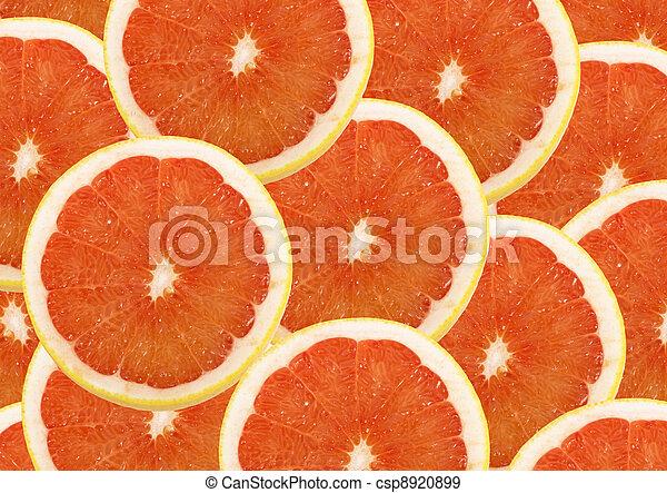 Fruta fresca y rodajas de fondo - csp8920899