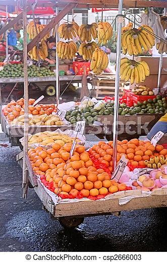 Fresh Air Fruit Market - csp2666003