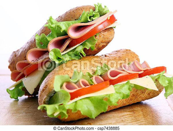 Fresh and tasty sandwich - csp7438885