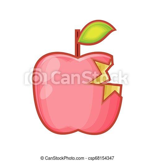 fresh apple fruit with bite - csp68154347