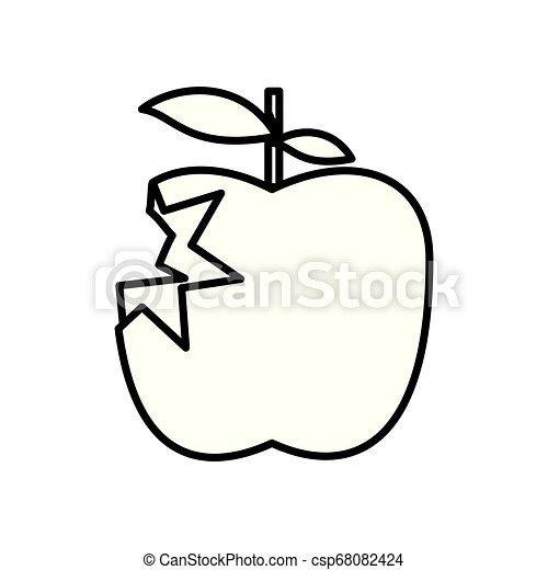 fresh apple fruit with bite - csp68082424