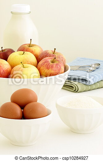 fresh apple pie ingredients - csp10284927