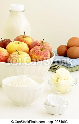 fresh apple pie ingredients - csp10284993