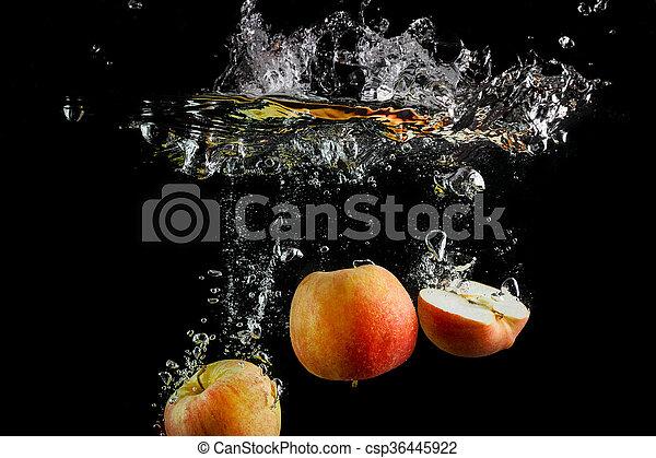 Fresh apples in water - csp36445922