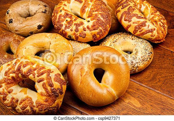 Fresh bagels - csp9427371