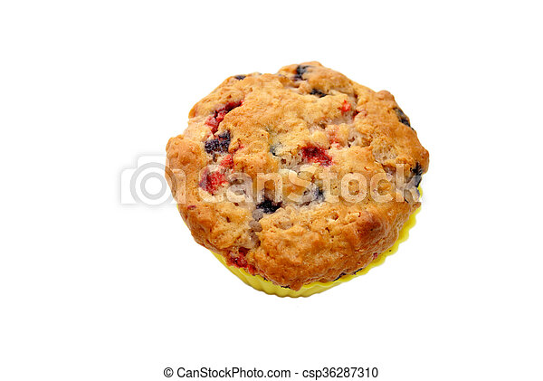 Fresh Baked Berry Muffin - csp36287310
