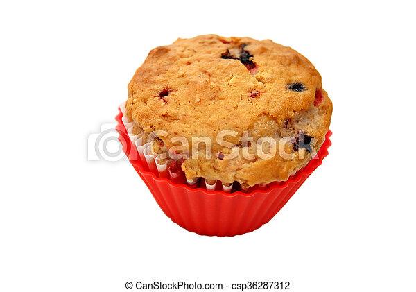 Fresh Baked Berry Muffin - csp36287312