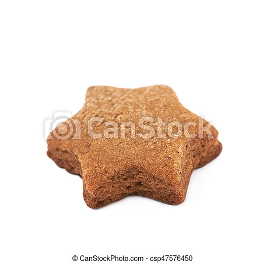 Fresh baked ginger cookie isolated - csp47576450