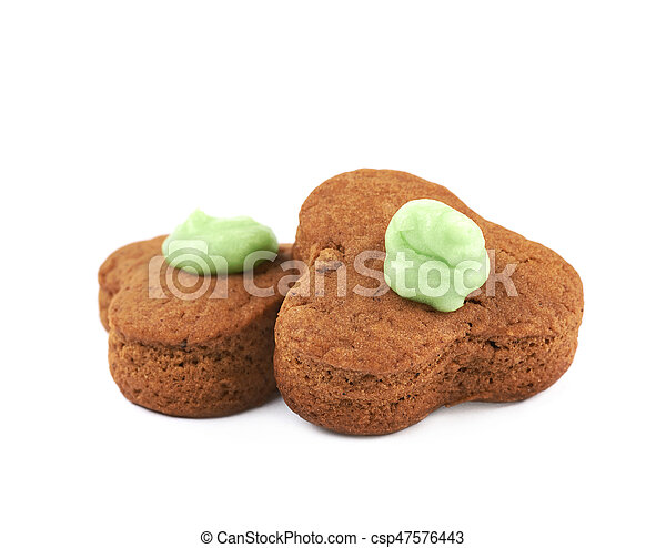 Fresh baked ginger cookie isolated - csp47576443