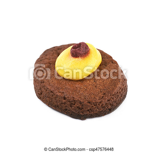 Fresh baked ginger cookie isolated - csp47576448